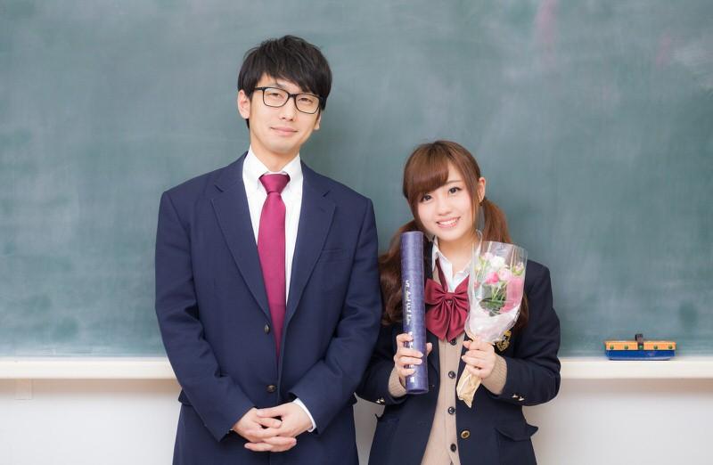 かわいい学生とおじさん